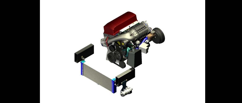 CAD Solid Model Rendering of Honda S2000 TVS Supercharger Kit